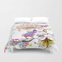 witch Duvet Covers featuring Witch by Andrew Mark Pickin
