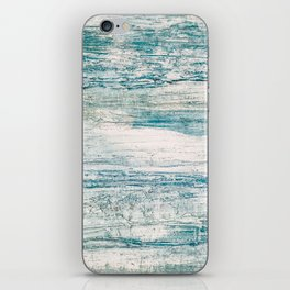 Sea Foam Blue Acrylic Textured Painting iPhone Skin