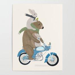 biker buddies Poster