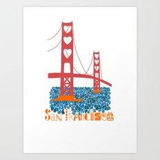 I Heart San Francisco Art Print