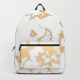 Elegant, Luxury, Gold Glamour Marble Pattern Backpack