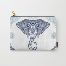Bohemian Elephant Tribal Boho Gradient Blue Carry-All Pouch