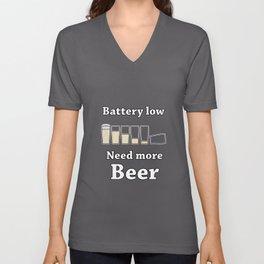Once Charge Up Beer Unisex V-Neck