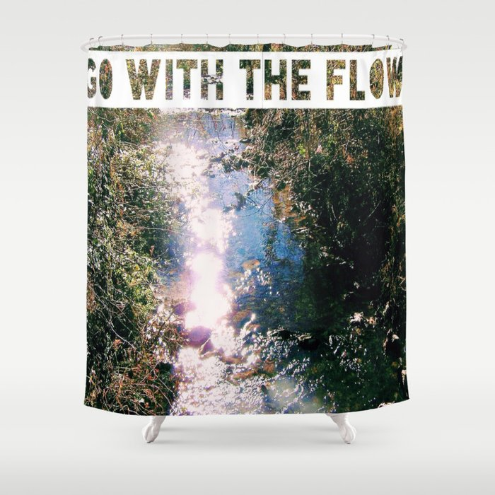 #GOWITHTHEFLOW fig. 1 Shower Curtain