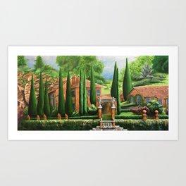 Villa of Lago d' Como Art Print