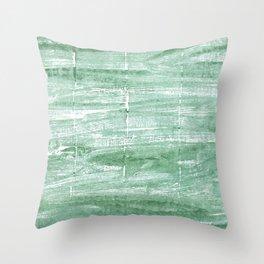Turquoise green Throw Pillow