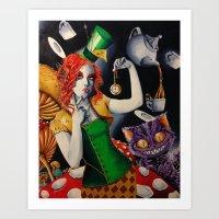 Sombrerera loca Art Print