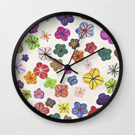 Floral art mille fiori Wall Clock