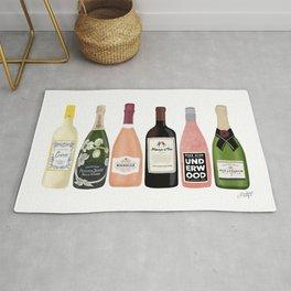 Wine & Champagne Bottles Rug