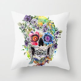 SKULL NI Throw Pillow