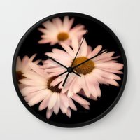 daisies Wall Clocks featuring Daisies by Christine Belanger