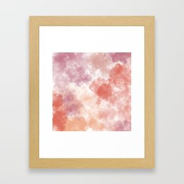 Pastel watercolor clouds Framed Art Print