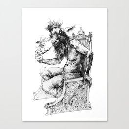 Goat King Canvas Print