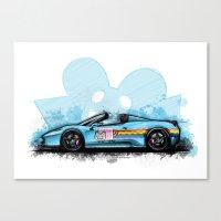 deadmau5 Canvas Prints featuring Deadmau5's Purrari 458 Spider by an.artwrok