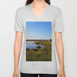 Marshy Meadows Unisex V-Neck