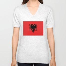 Albanian Flag - Hight Quality image Unisex V-Neck