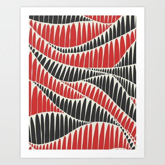 Sahara Desert in pastel colours 3 Art Print