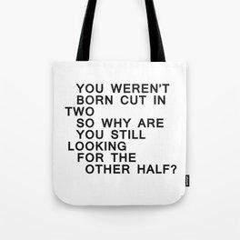 In Half / Original / Mono Tote Bag