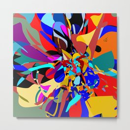 Flora Abstract Metal Print