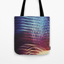 Camera Toss Light Abstract Tote Bag