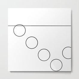 The Falling Circle Metal Print