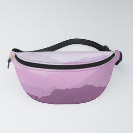 Purple mountain sunrise Fanny Pack