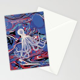 Ocean Blue Octopus Stationery Cards