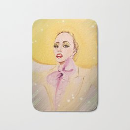 Lady G In Yellow Couture Bath Mat