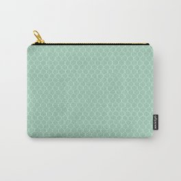 Chicken Wire Mint Carry-All Pouch