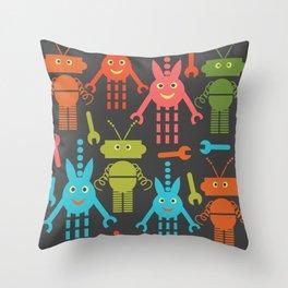 Robots pattern F41 Throw Pillow