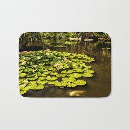 Water Lily Pond at Huntington Gardens No. 2 Bath Mat