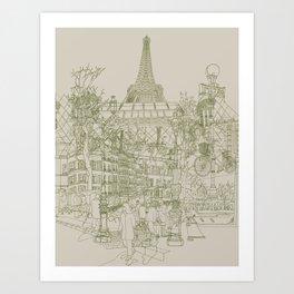 Paris! Musty Art Print