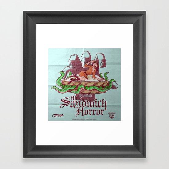 H.P. LoveKRAFT's  The Sandwich Horror Framed Art Print
