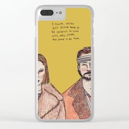 The Royal Tenenbaums Clear iPhone Case
