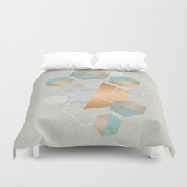 Honeycomb Concrete Duvet Cover
