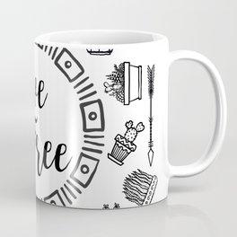 Live Free Pen Sketch Coffee Mug