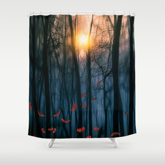 Red feather dance  (colour option) Shower Curtain