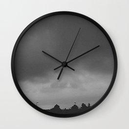 denver skies Wall Clock