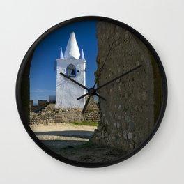 Arraiolos white tower, Portugal Wall Clock
