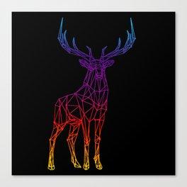 Rainbow Geometric Deer Canvas Print