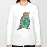 ethnic Long Sleeve T-shirts featuring Ethnic Penguin by Pom Graphic Design