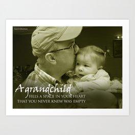 A Grandchild Art Print