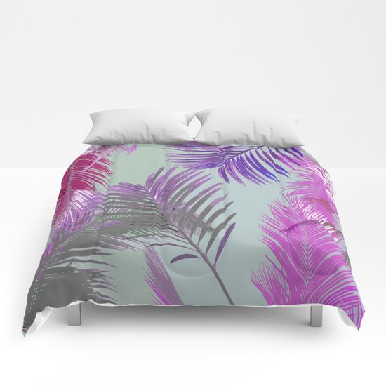 California Dreaming Purple Comforters