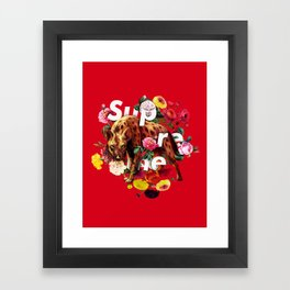 Supreme-Hyena Framed Art Print
