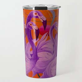 Purple Flamingo Travel Mug