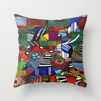casablanca Throw Pillows featuring CASABLANCA by AdriaColorado