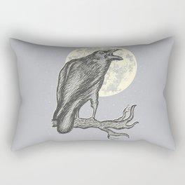 Night Caw Rectangular Pillow