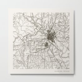 Dallas Map Metal Print