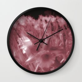 Infra-Red Daffodils Wall Clock