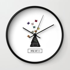 capsules ad Wall Clock